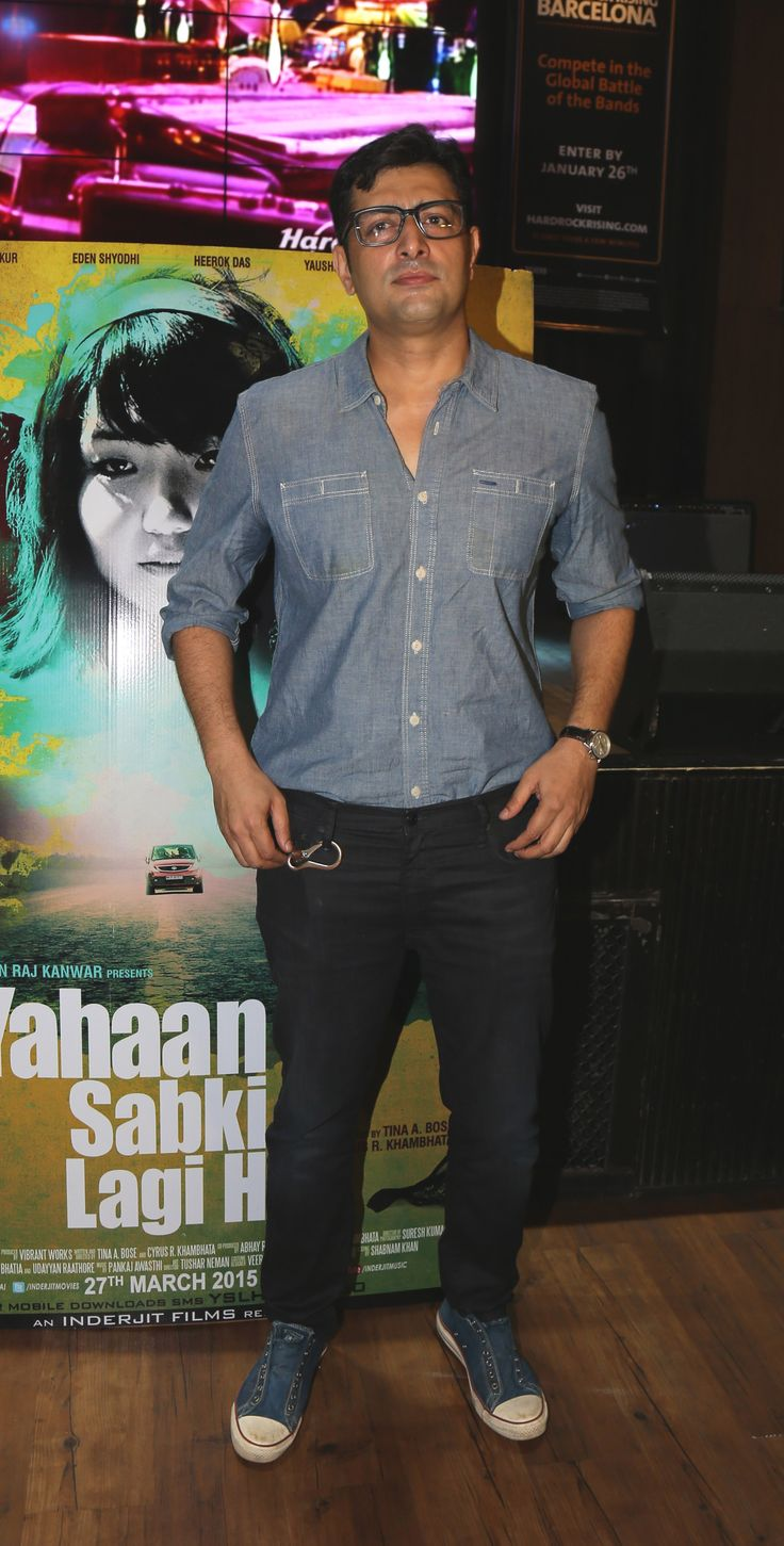 Priyanshu Chatterjee at Tina A Bose and Cyrus R Khambhata's Yahaan Sabki Lagi Hai music launch at Hard Rock Cafe, Andheri