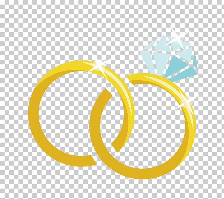 Anillo De Matrimonio Matrimonio Material De Dibujos Animados Anillo De Matrimonio De Diamante Anillo De Color Dorado Con Ilustracion De Marriage Wedding Png