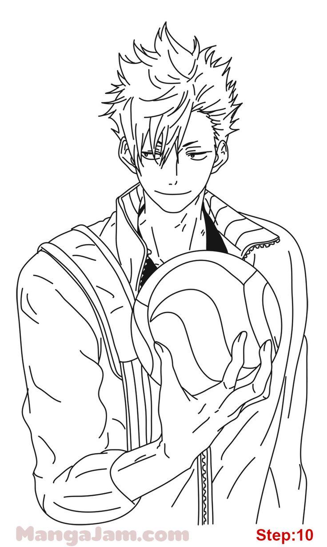 How to draw kuroo tetsuro from haikyuu in