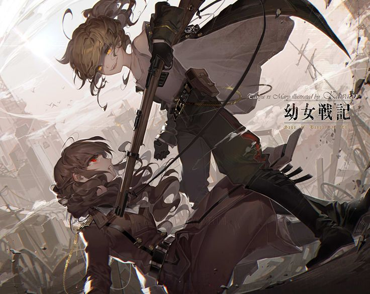 河CY sketchblog — based on the official battle scene of Tanya vs her...