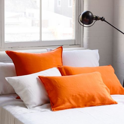 Home Republic Vintage Washed Tangerine - Bedroom Quilt Covers & Coverlets - Adairs Online
