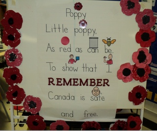 Think I will convert this to a bulletin board or door decoration in honour of Remembrance Day