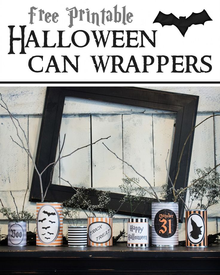 Get excited for Halloween by decorating your space with spooky themed cans. Click the above image for Eighteen25's free printable Halloween can wrappers.