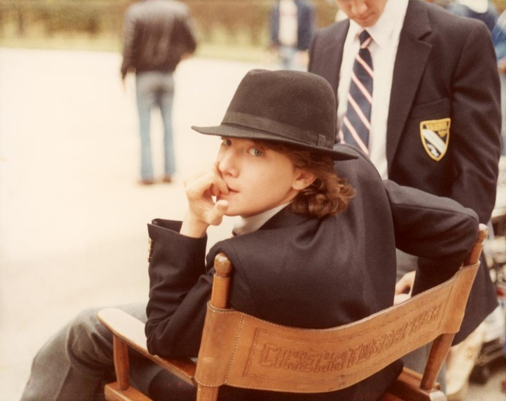 Andrew McCarthy on the set of Class (what a cutie)