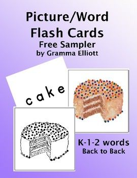These K - 1  2 flash cards can be used on word walls, on rings for practice, as small puzzles, and more. This collection is a sample of other flash cards in my store. Back to back printing will provide flash cards for self checking individual and small group practice and sorting.