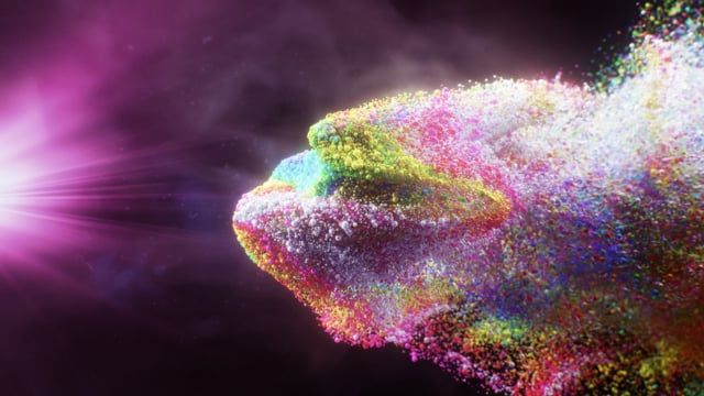 Small experiment inside Houdini  Particles react with Pyro sim and