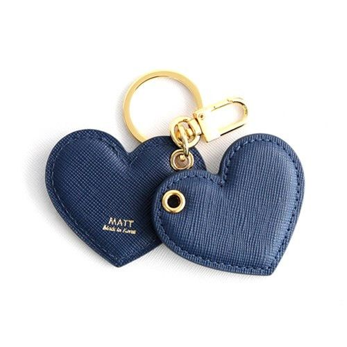 "Heart initials leather keyring (steel blue) -Personal Belongings -The heart shape (♥) is an ideograph used to express the idea of the ""heart"" in its metaphorical or symbolic sense as the center of emotion, including affection and love, especially romantic love. Heart Keyring..so adorable keyholder..adorbs! High quality!! Be beauty with Alllick !"