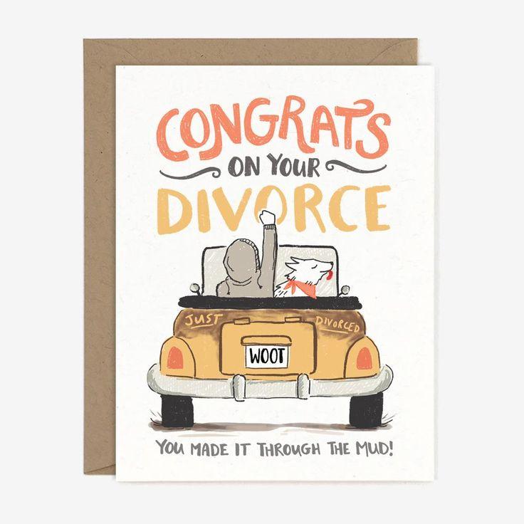 Congrats Divorce Card