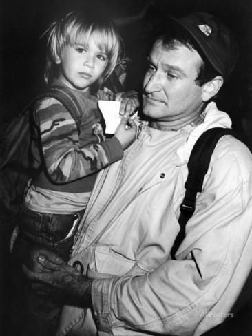 Comedian Robin Williams Carrying Son Zachary Premium Photographic Print at AllPosters.com