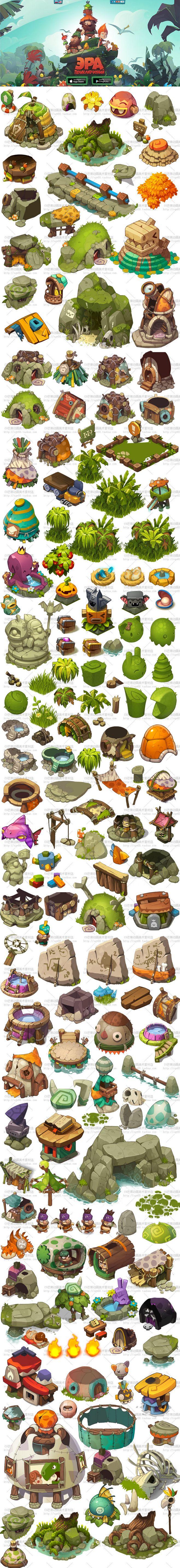 Spel van het oorspronkelijke schilderij scènes materiële middelen 2D resource…