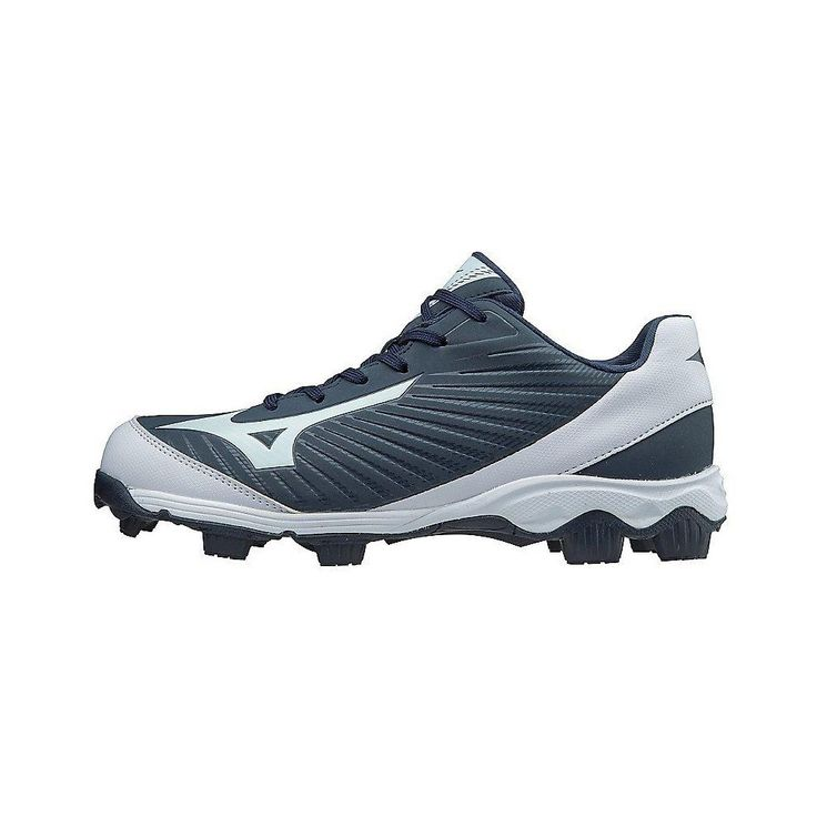 Royal//White Mizuno Youth 9-Spike Advanced Franchise 8 Low Molded Cleats