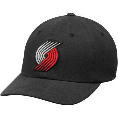 Men's Mitchell & Ness Black Portland Trail Blazers Basic Washed Flex Hat
