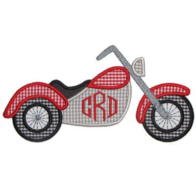 See It All :: Motorcycle Applique - Embroidery Boutique