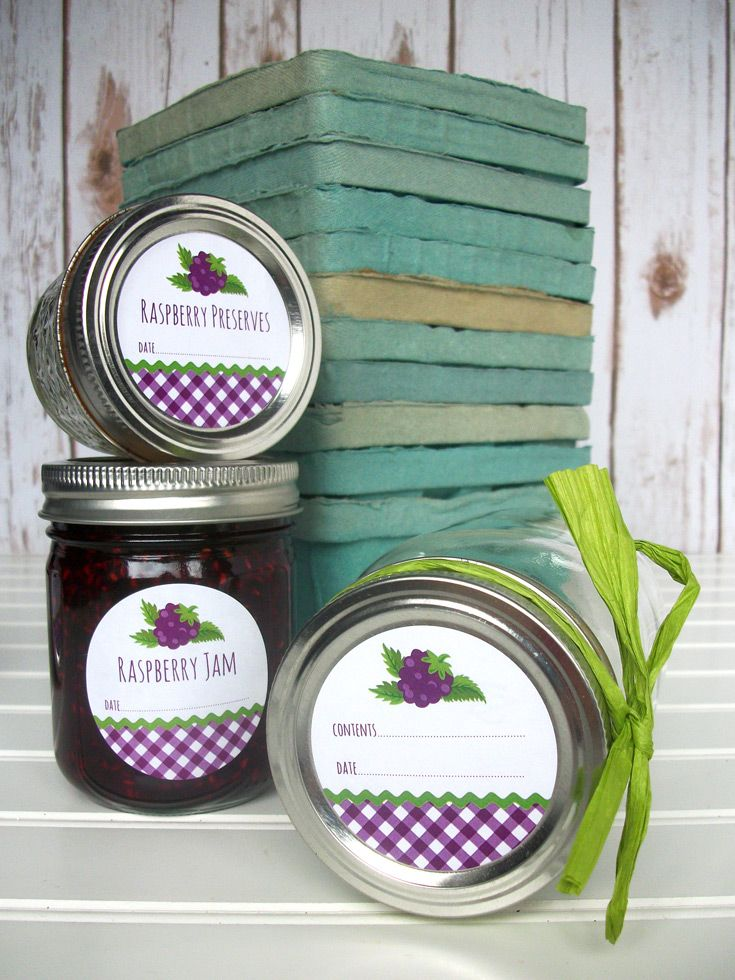Black Raspberry jam jar labels are also available for blackberry jelly and preserves. CanningCrafts mason jar labels $4