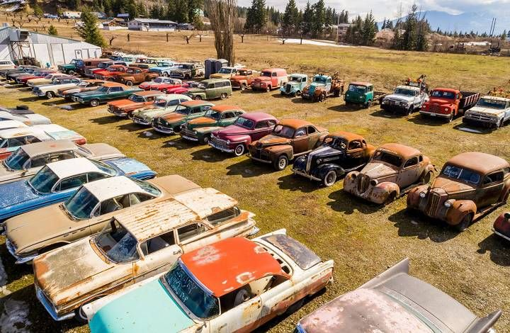 B.C. property with 340 vintage cars selling for $1.45M