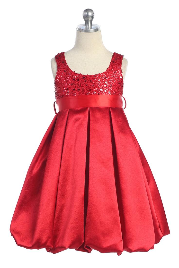 18 best flower girl RED dresses images on Pinterest   Dresses for ...