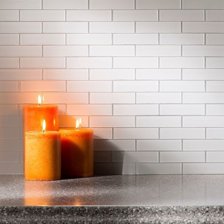 Tiling A Kitchen Backsplash Do It Yourself: Aspect Glass Matted Subway Tile In Frost 15-square Foot