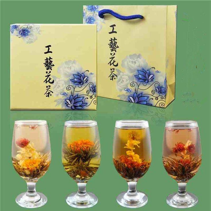 9 различных китайских ручной цветок цветущий чай мяч художественный чай здоровья и красоты органические природные цветочный чай подарочной упаковке