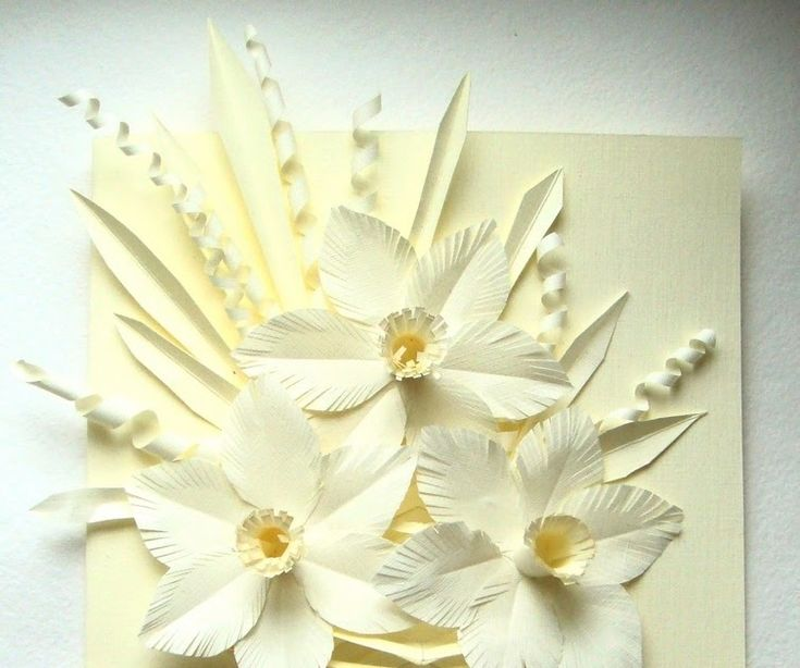 Открытка маме из белой бумаги, новый год