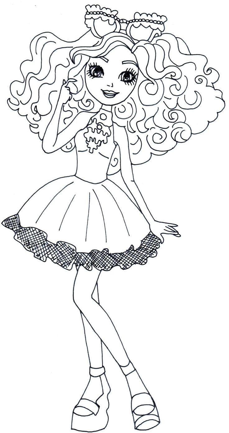 ever after high madeline hatter coloring pages - 286 best 2 color ever after high images on pinterest