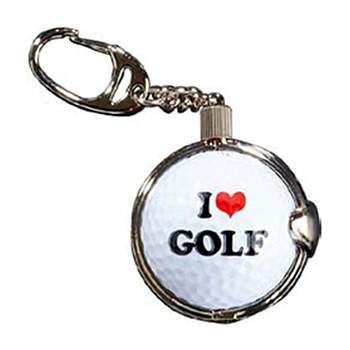 Golf Gifts Keyring with Removable I Love Golf Premium Golf Ball at golfessentials.in