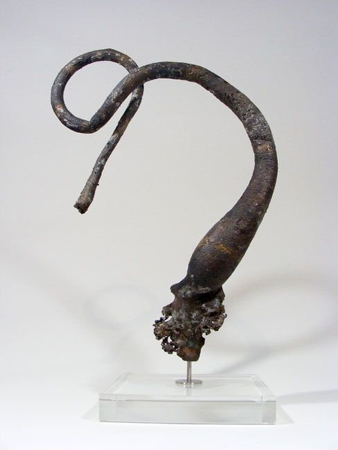 Nic Bladen bronze cast. Up to 15 metres in length, ends in a bulb (float) at its apex Melkbosstrand, Hakgat
