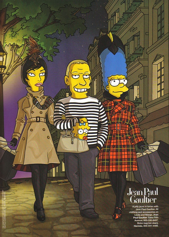 The Simpsons Go To Paris with Linda Evangelista Harper's Bazaar 2007