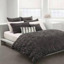 DKNY~WILLOW~slate grey~King Duvet Cover Set COTTON   Bedroom Idea ...