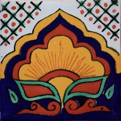 9 pcs Sunrise Talavera Mexican Tile Fine Crafts & Imports http://www.amazon.com/dp/B00VVVUHXW/ref=cm_sw_r_pi_dp_JmnLvb0NKHX72