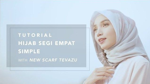 [Video] Tutorial Hijab Motif Segi Empat Simpel