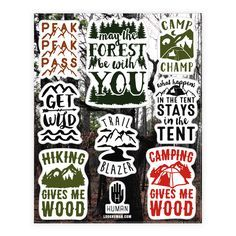 Show off your love of hiking and the great outdoors with this hilariously funny, hiking pun, recreational, camping and hiking stickers! Now go ahead and pitch that tent, put on your hiking boots, and become one with nature, and take a hike! | HUMAN