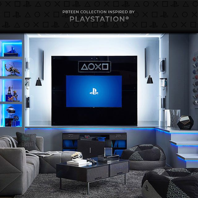 Playstation Inspired Furniture Geek Playstation Furniture Deco Gaming Ps4 Home Salle De Jeux Adolescent Chambre Gaming Meubles Geek