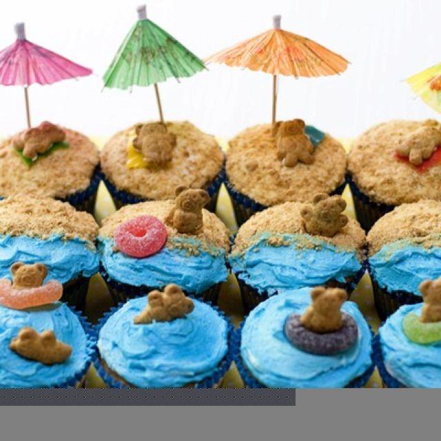 Beach Birthday Cakes, Beach Theme Desserts And