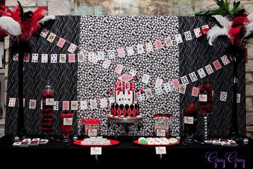 Photo 1 of 33: Casino / Birthday Casino 40th Birthday  | Catch My Party