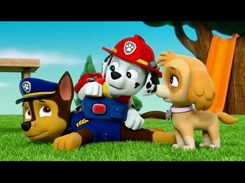 Paw patrol full episodes 2017 Rescue Run Pups Save Team Chase, Marshal