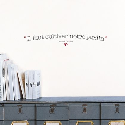 17 best images about wandering thoughts on pinterest - Candide il faut cultiver notre jardin ...