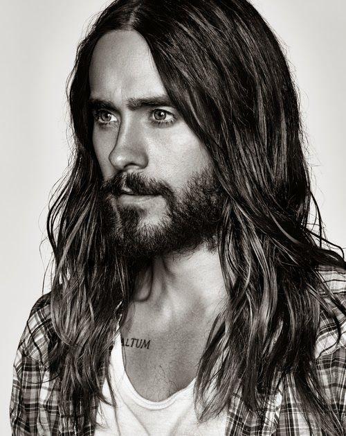 Long hair and beard- Jared Leto face shot