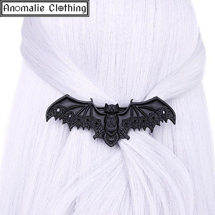 Black Lace Bat Hair Clip