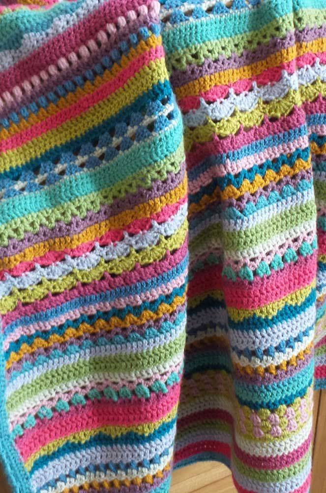 Sara's Cherry Heart Crochet Along blanket in Stylecraft Special Dk