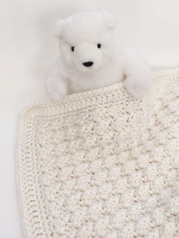 Les 25 meilleures id es de la cat gorie couvertures pour b b en crochet afghan sur pinterest - Grosse laine pour couverture ...
