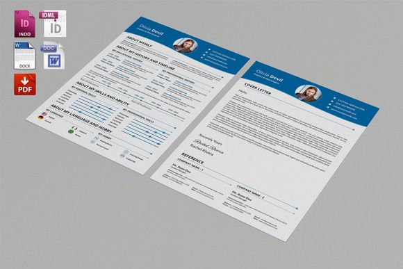 resume template cover letter template word by templatestock