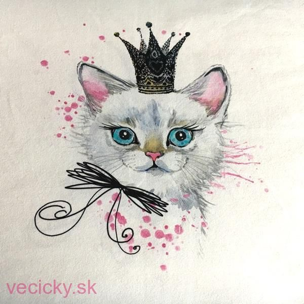 TEPLÁKOVINA PANEL - mačička 50x55cm