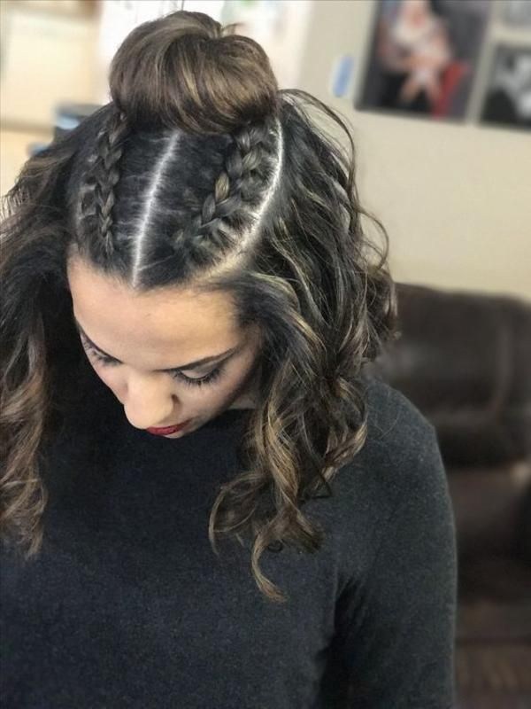 27 Two Braids Hairstyle Trends For The Summer Of 2020 Braids With Curls Two Braid Hairstyles Braided Hairstyles