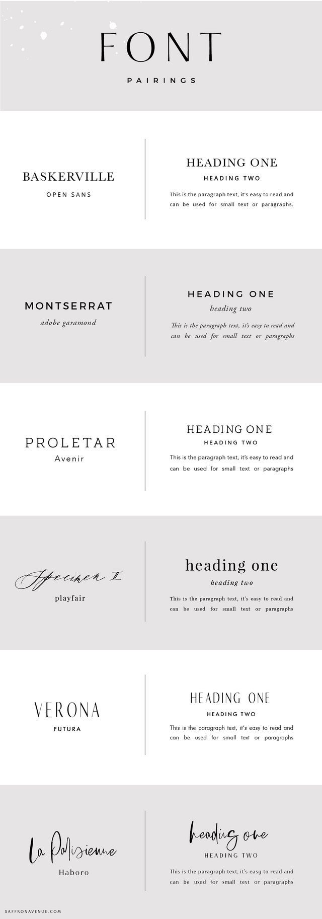 Font Pairings and How to Use Them in Your Brand (Saffron Avenue