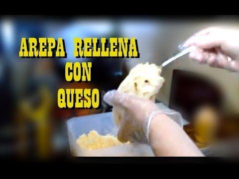 ▶ Como hacer arepa rellena con queso. - YouTube