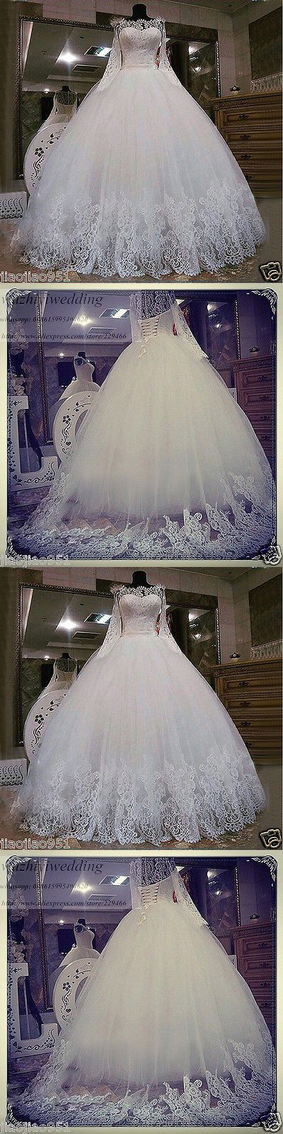 Wedding Dresses: 2017 New Lace White Ivory Wedding Dress Bridal Gown Custom 4 6 8 10 12 14 16 18+ -> BUY IT NOW ONLY: $138 on eBay!