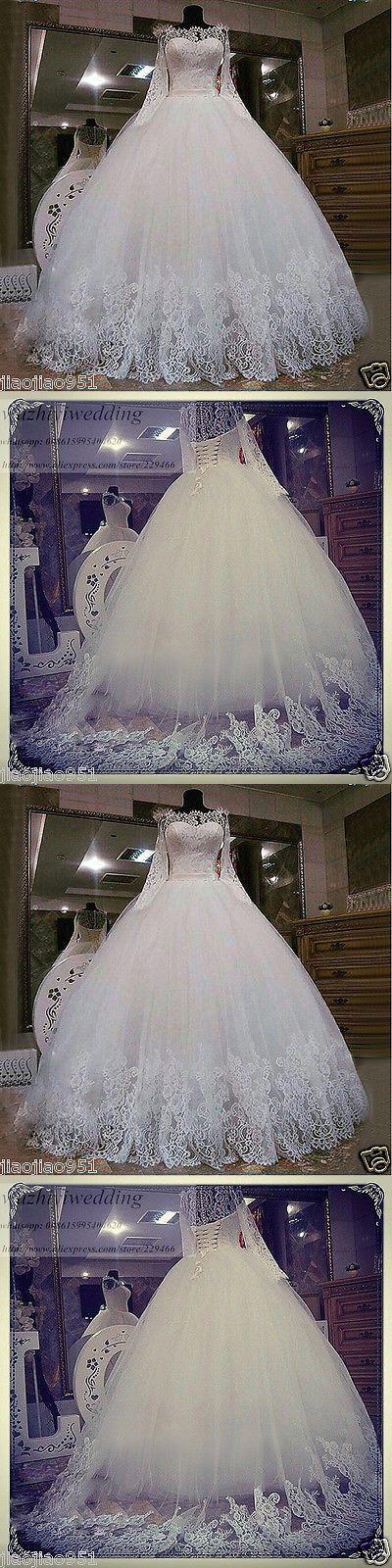 Wedding Dresses: 2017 New Lace White Ivory Wedding Dress Bridal Gown Custom 4 6 8 10 12 14 16 18+ -> BUY IT NOW ONLY: $138 on eBay!