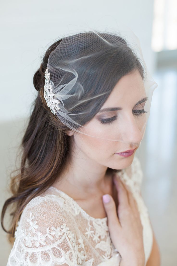 31 best wedding veils with hair down images on pinterest | bridal