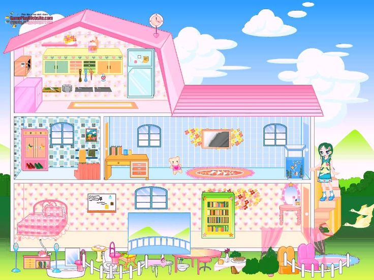 Die besten 25 Barbie house decoration games Ideen auf Pinterest