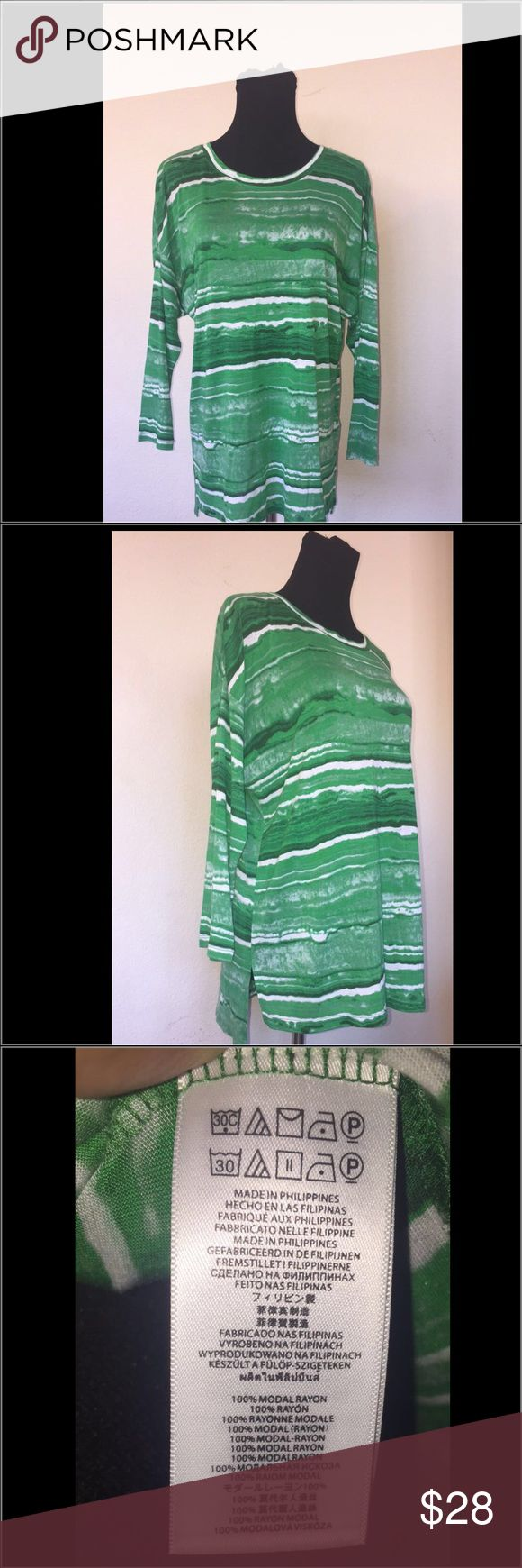 Michael Kors woman's green shirt In mint condition. Has been used twice and put up since then. Michael Kors Tops Blouses